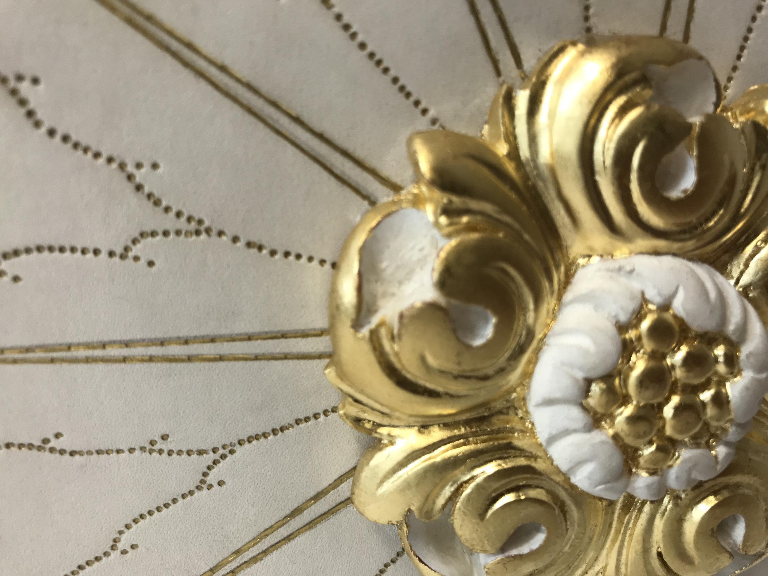 Gilded plasterwork rosette