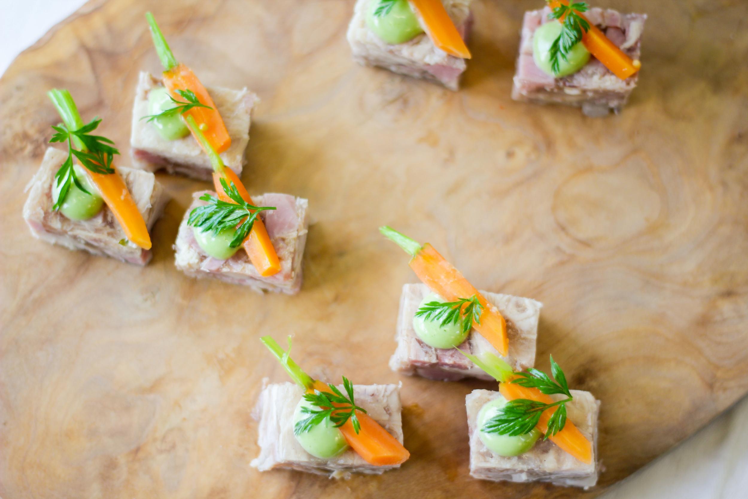 Rabbit terrine, pickled carrot, tarragon