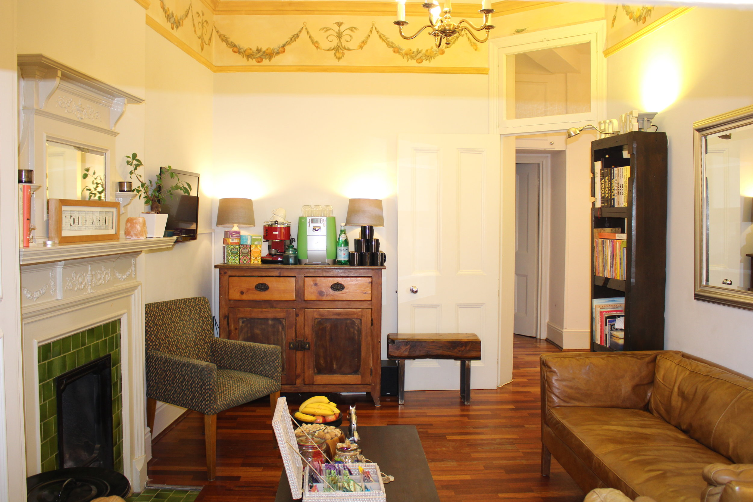 Enjoy our lounge area, books and a good chat over a cup of tea or chai