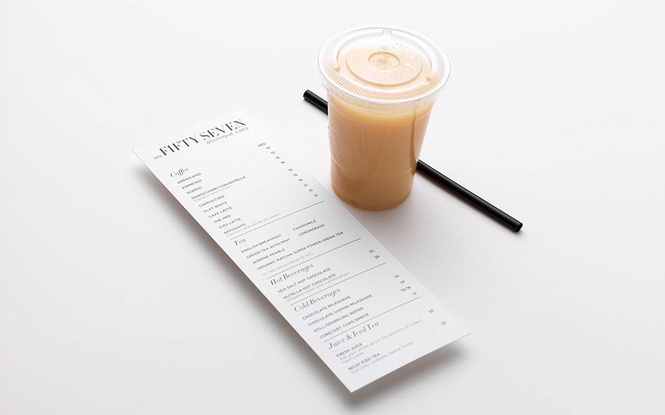 No Fifty Seven Boutique Cafe Drinks Menu