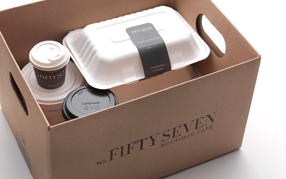 No Fifty Seven Boutique Cafe Take Away Box