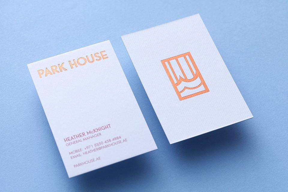 Park House Business Cards