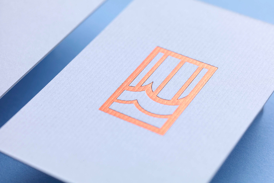 Park House Business Cards Foil Detail
