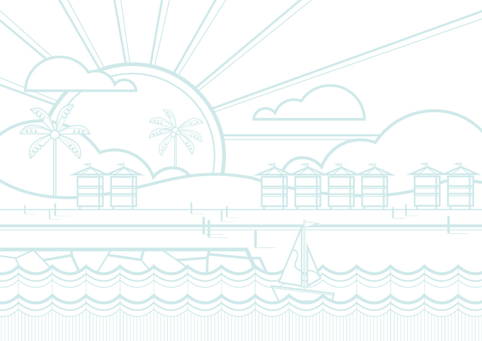 Park House Beach Illustration