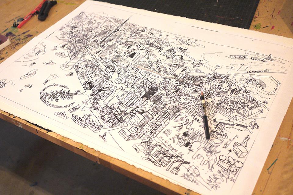 Better Homes Dubai Map Drawing