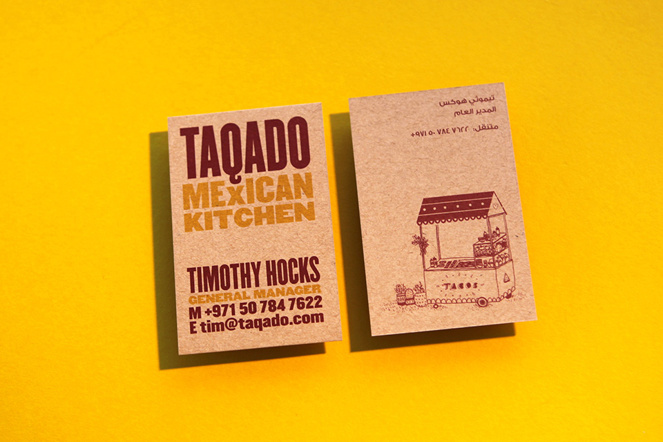 Taqado Mexican Kitchen Business Card