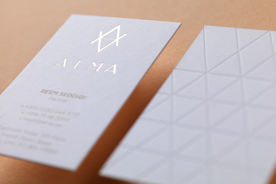 Alma Identity Business Card Blind Emboss