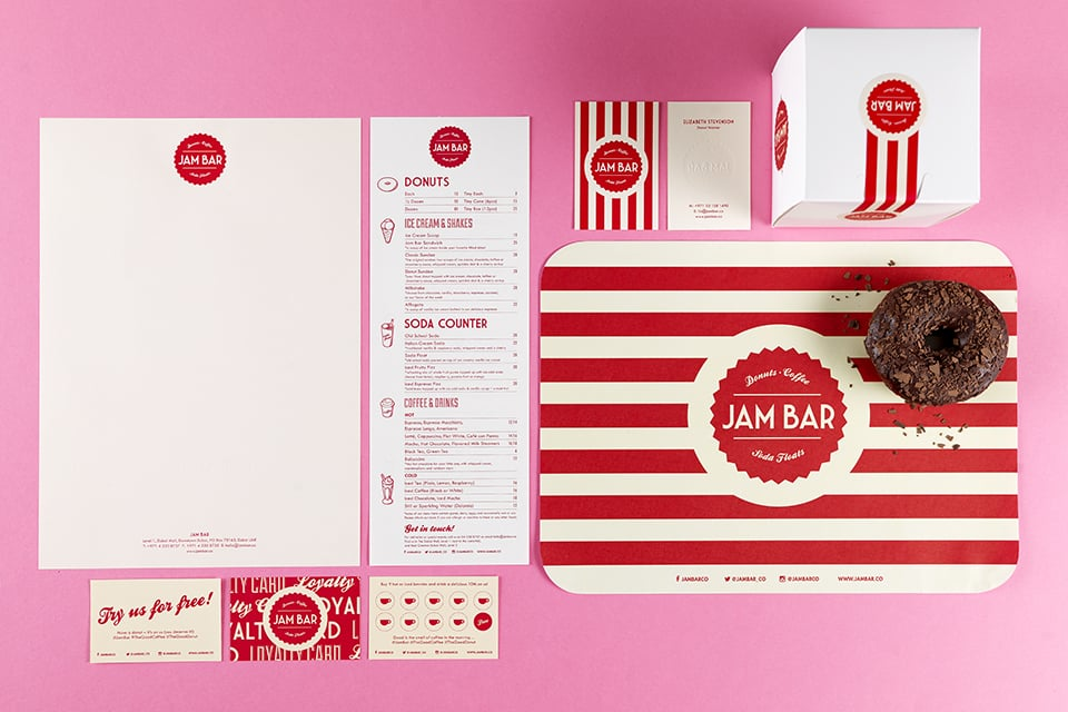 Jam Bar Brand Identity Collateral