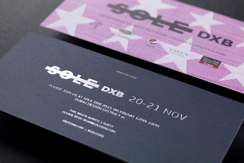 Sole DXB 2015 Launch Night Invite