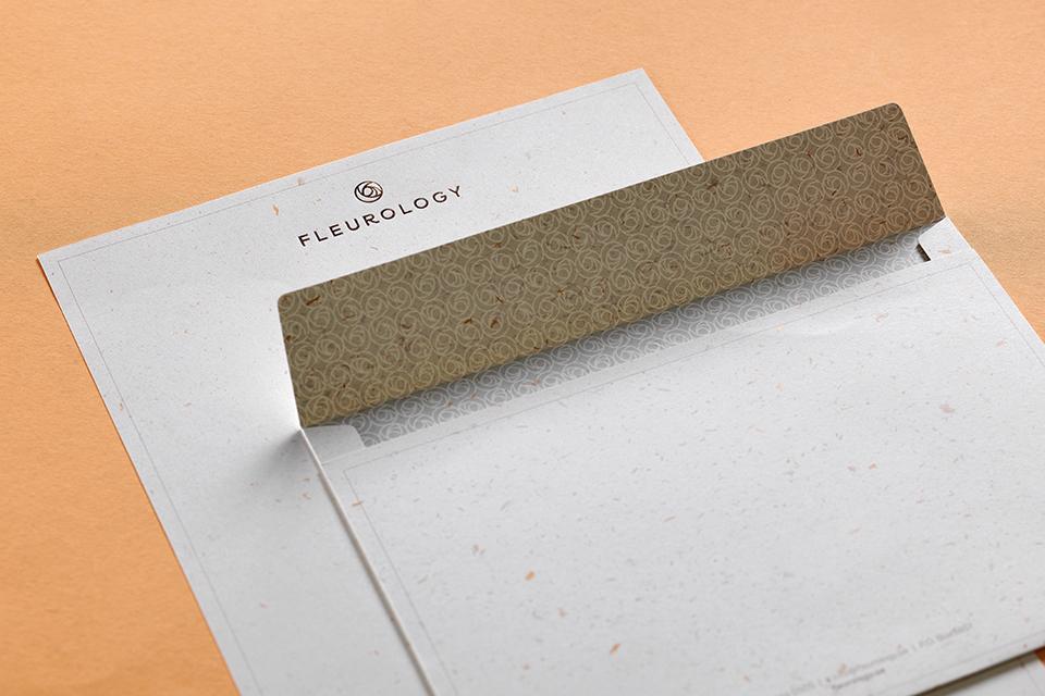 Fleurology Letterhead and Envelope