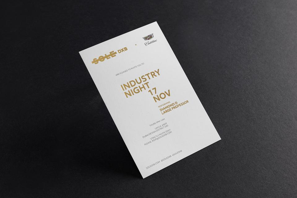 Sole DXB 2016 Industry Night Invite