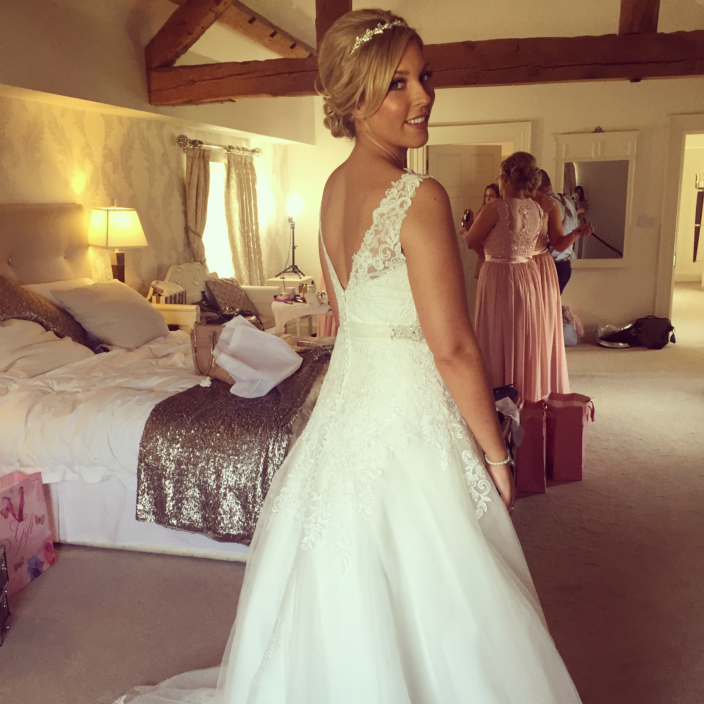 Stunning katie in her beautiful Justin Alexander gown x