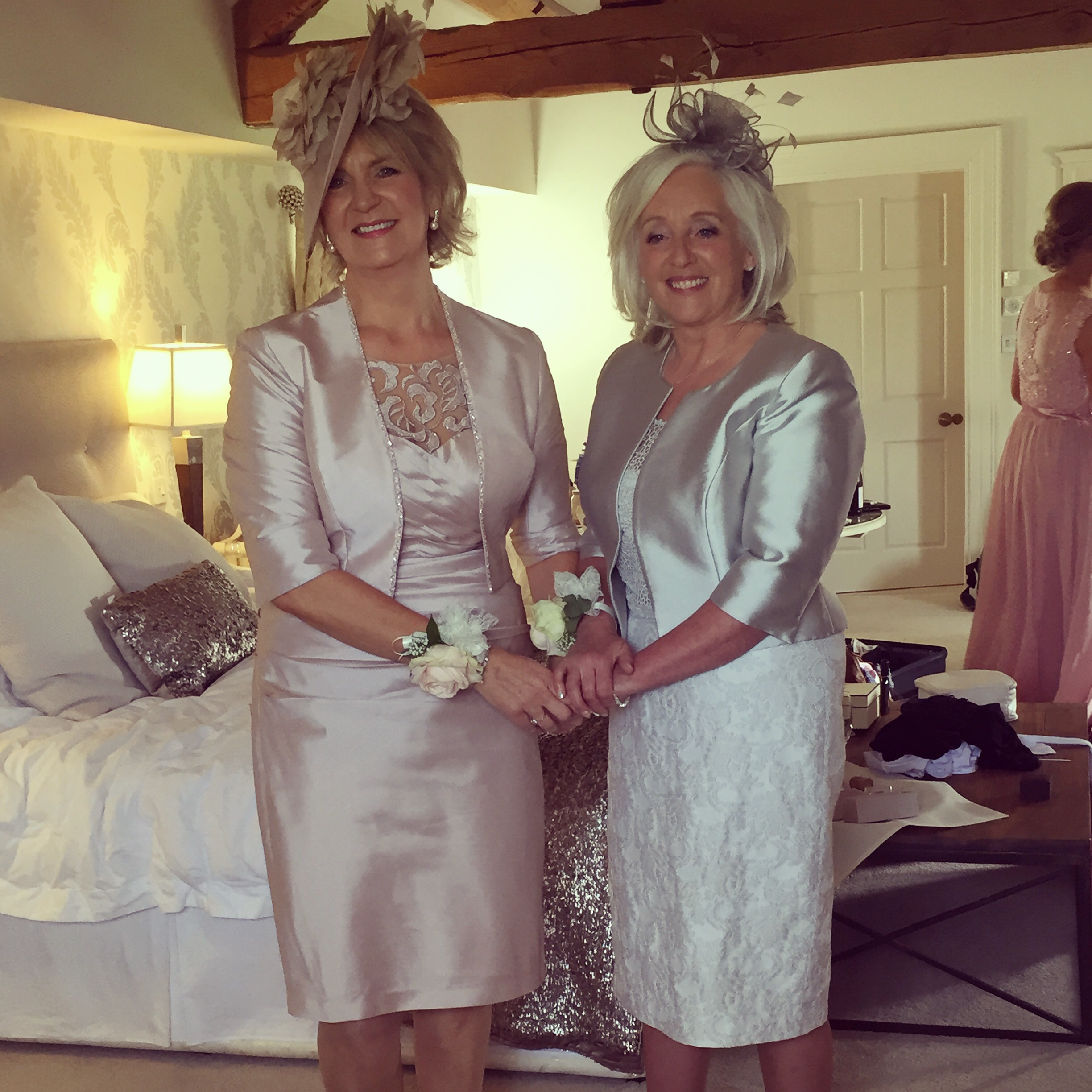 Sue (mother of the bride) & Jane (mother of the groom) looking flawless and feeling fabulous!