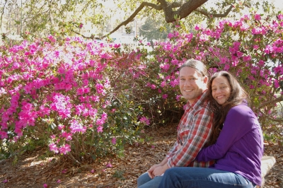 Michel and her husband Cary at the Park Circle Duck Pond