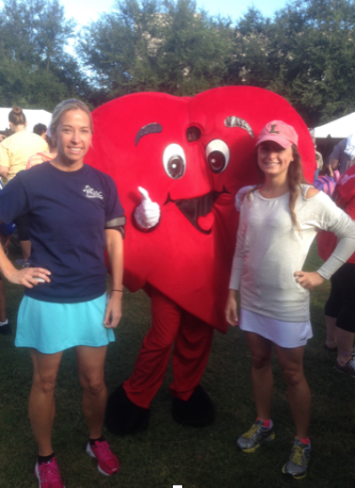 Alicia and Andy at the MUSC's Little Hearts walk