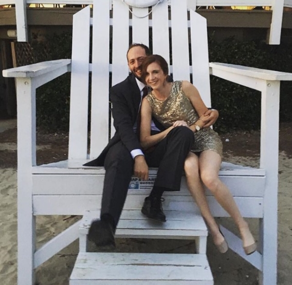Walker and Kristen, being fancy at a wedding last year