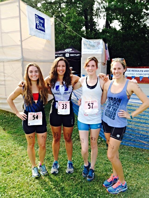 Kristen and friends at a Triathlon
