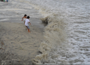 Hurricane Irene, 2011, with my brother, Louis