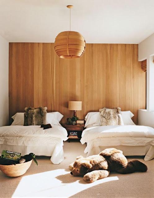 现代风格再生木墙面