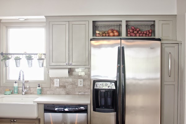 How To Maximize That Awkward Space Above The Fridge