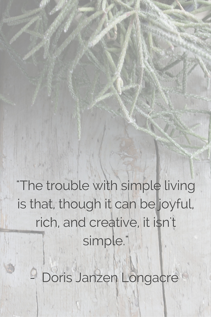 lessons on living simply