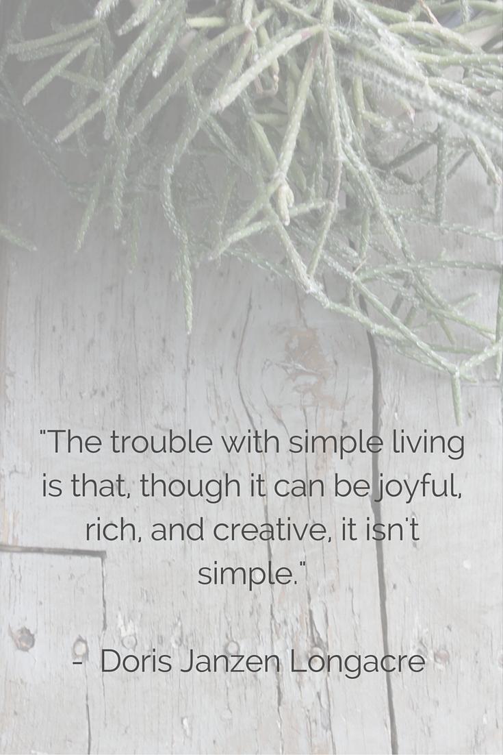 简单生活的教训