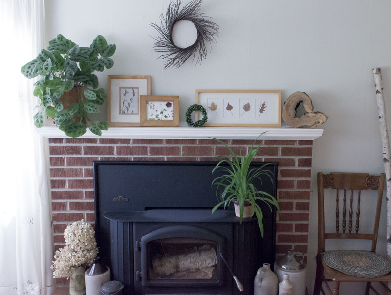 fireplace mantle styling for September