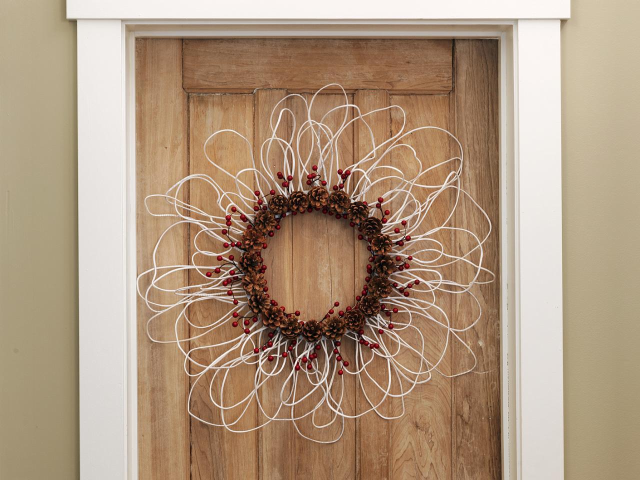 salvaged wire wreath