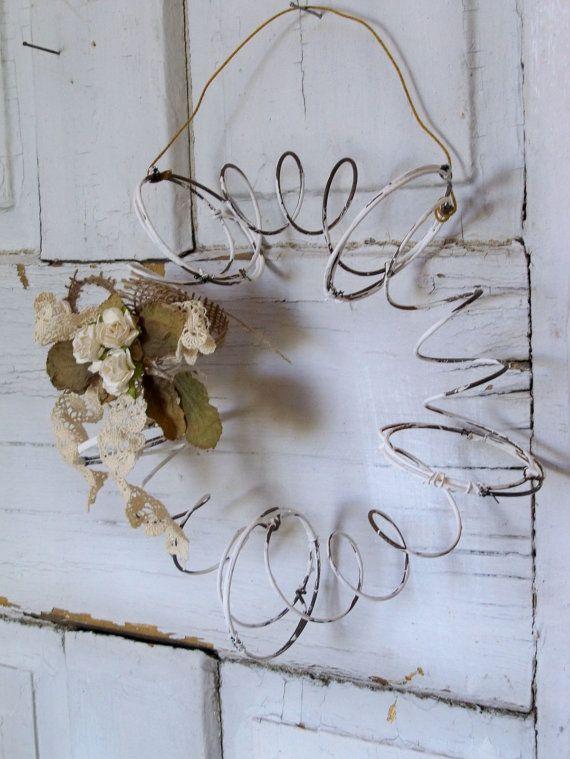 repurposed bedspring wreath