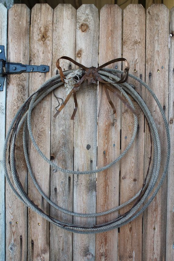 old reclaimed barbed wire wreath
