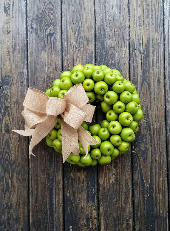 green apple wreath