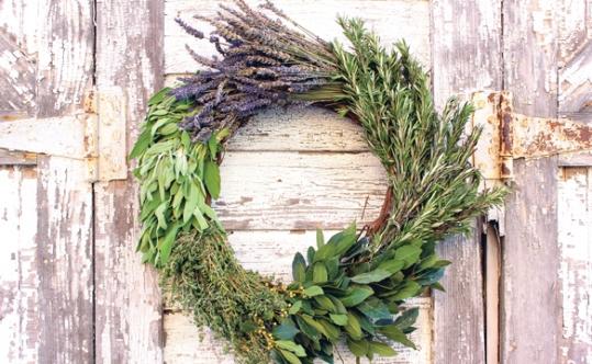 herb wreath DIY