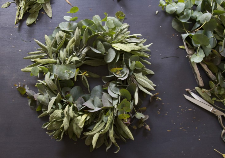 eucalyptus and sage holiday wreath