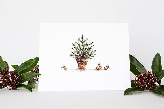 handmade Christmas cards - top sustainable holiday decor