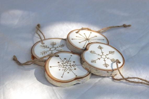 wood slice tree ornaments natural christmas