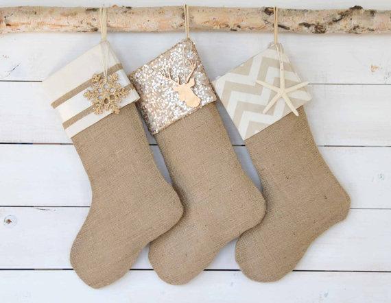 natural handmade stockings