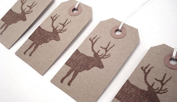 handmade natural christmas gift tags