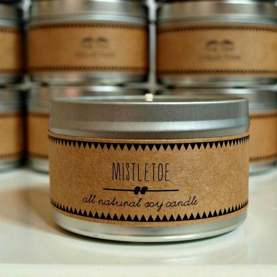 handmade organic soy holiday candle