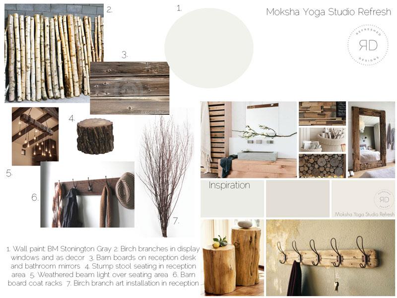 瑜伽工作室设计板概念