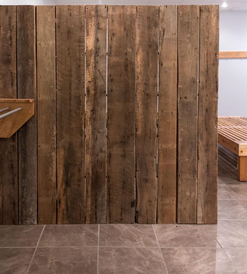 barn board room divider