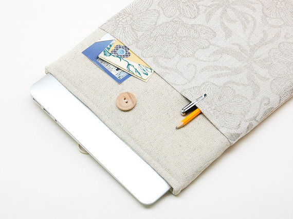hand-sewn Macbook case - sustainable gift guide