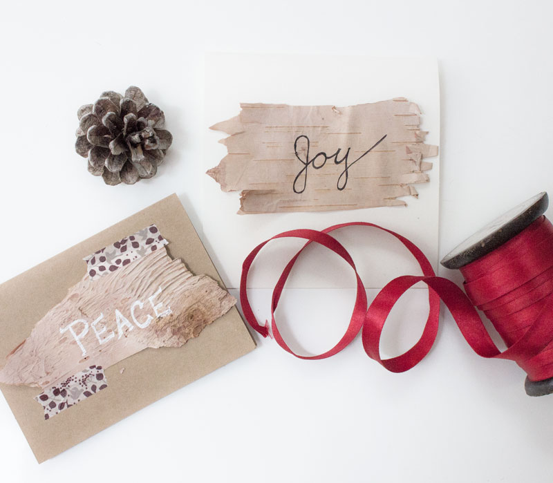 DIY simple home-made Christmas cards