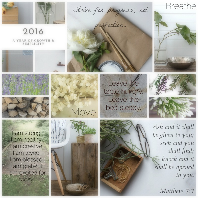 2016 Vision Board: Growth & Simplicity