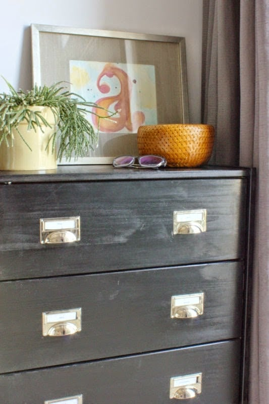 designate a cabinet for home office organization