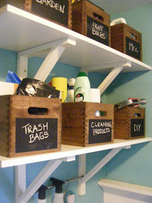 how to organize and label a storage closet