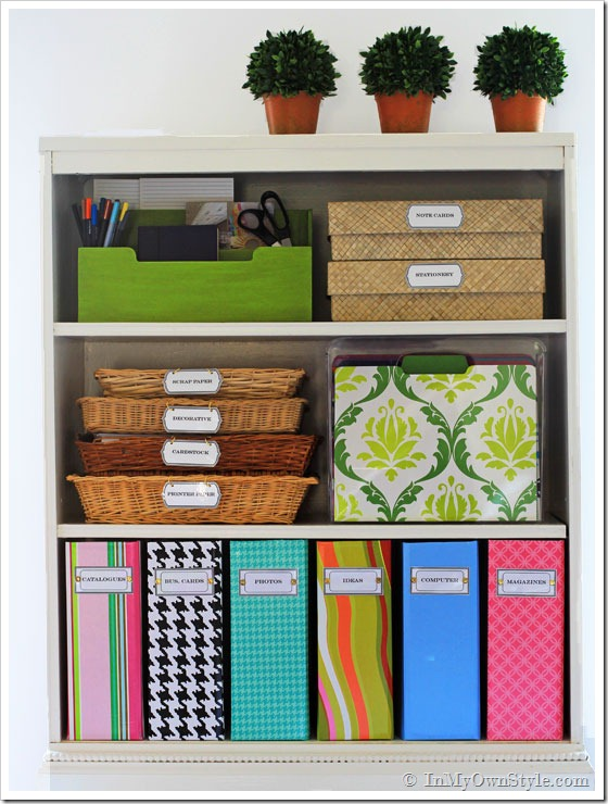 how to organize and label home office papers