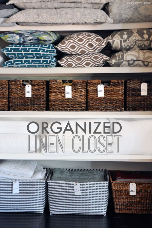 how to organize and label your linen closet