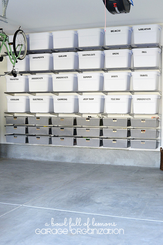 how to organize and label stuff in your garage