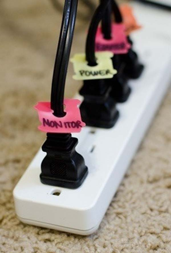 label your power cords