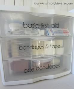 organize and label your medicine closet